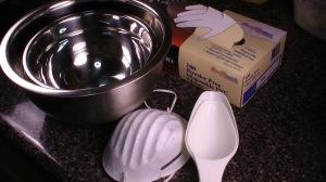 The equipment that I used to make bubble bars